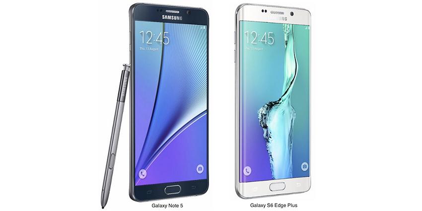 Ils arrivent : le Galaxy S6 Edge + et le Galaxy Note 5