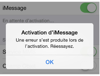 activation imessage