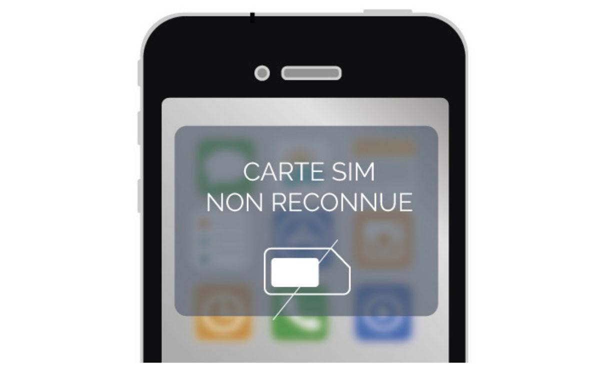 iphone ne reconnait pas carte sim Carte SIM non reconnue   SOSav blog