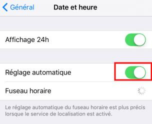 reglage iphone 6s