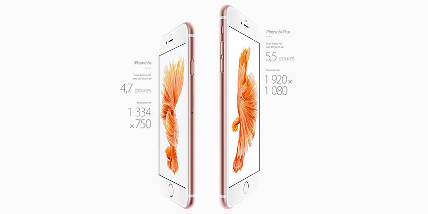 Les iPhone 6s et iPhone 6S Plus : toutes les nouveautés techniques