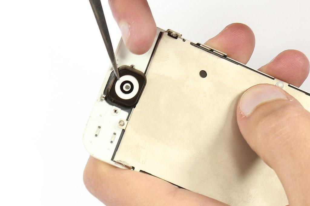 Le bouton home de l'iPhone 5 est sur l'écran