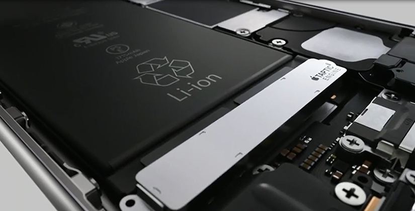 Vue interne iPhone 6S