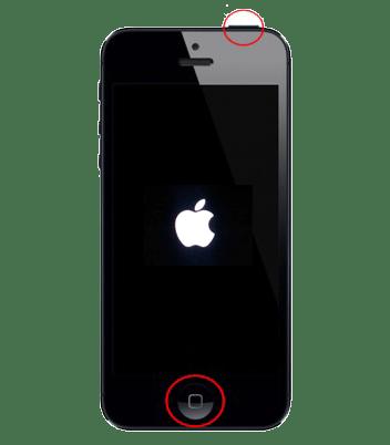 Hard reboot iPhone