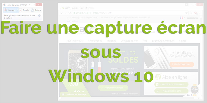 Comment faire une capture écran sous Windows 10 ?