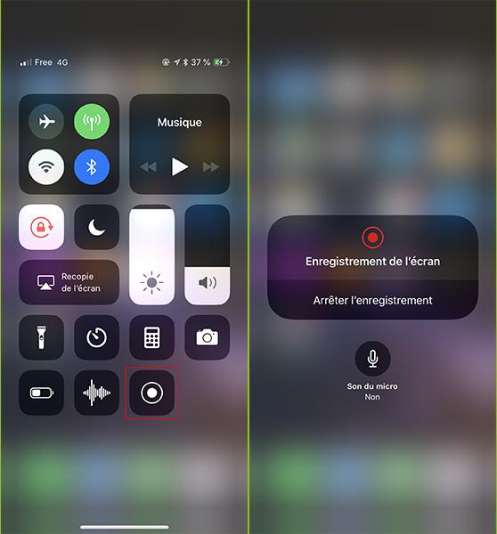 Activer enregistrement écran iPhone