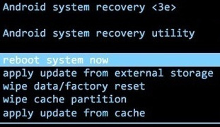 exemple menu recovery