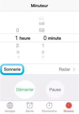 minuteur iphone