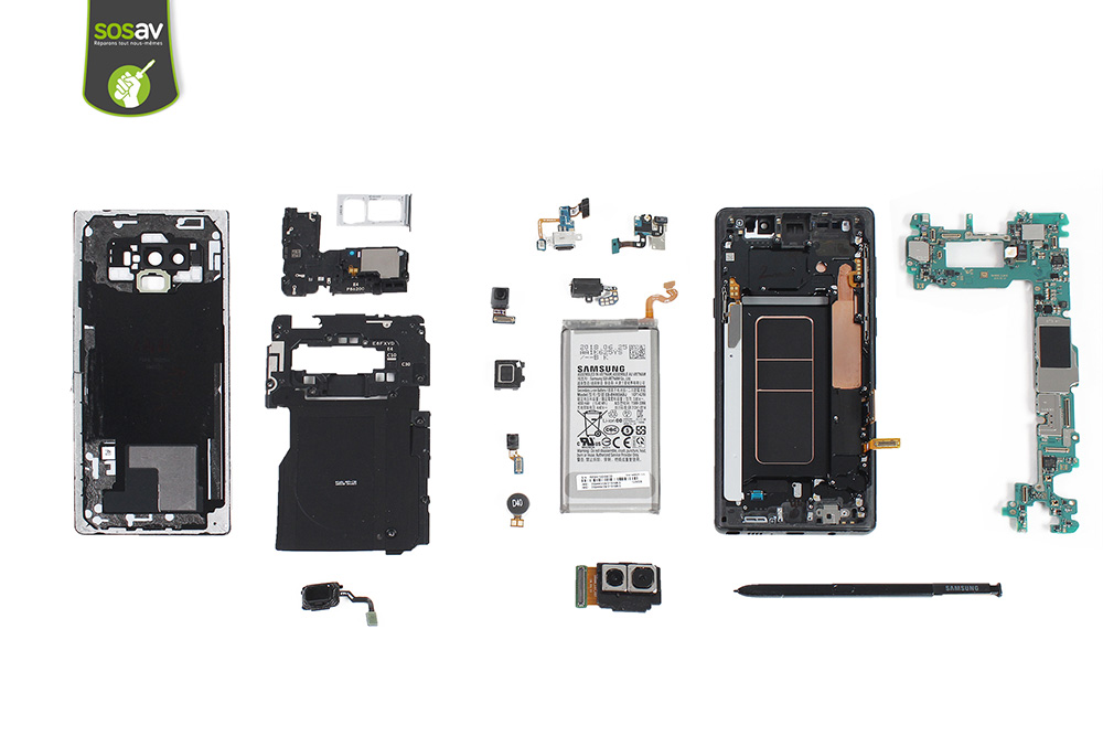 Galaxy Note 9 : Opération à coeur ouvert, les composants à l'air !