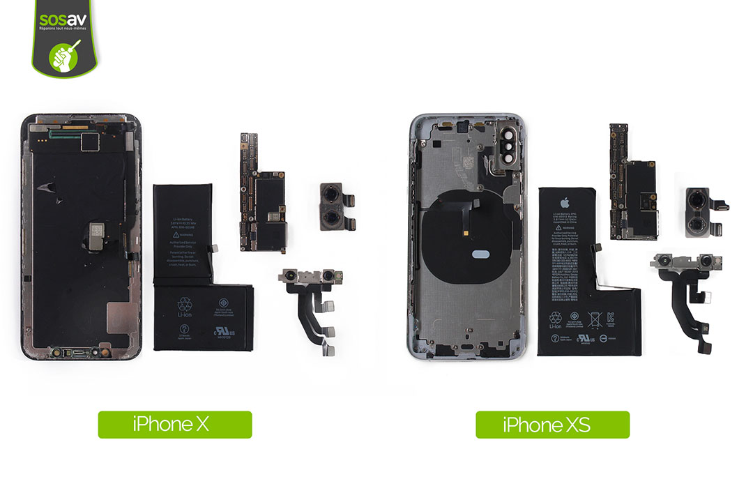 Comparaison iPhone Xs et iPhone X