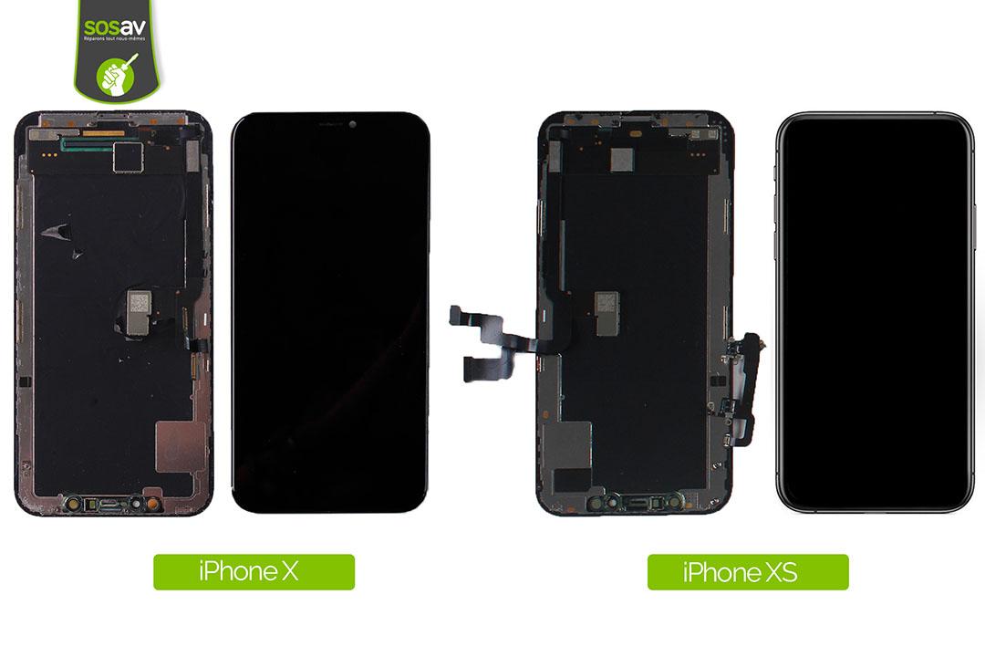 comparaison ecran iphone x et xs