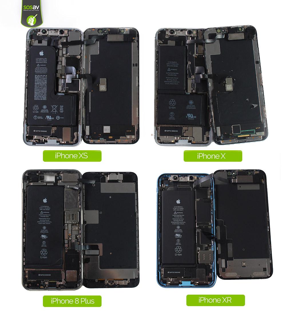 comparaison iphones xr iphone 8 plus iphone x iphone xs