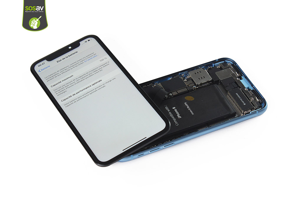 iPhone XR s'allume avec batterie iPhone 8