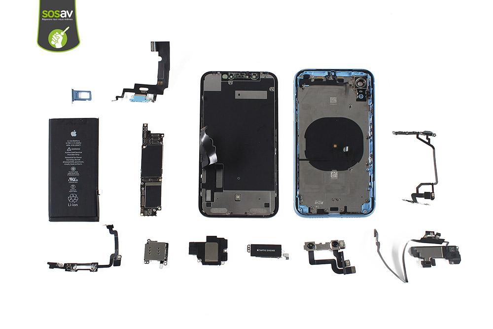 Vue éclatée iPhone XR