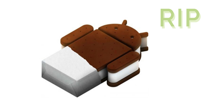 Android 4.0 Ice Cream Sandwich, fin du support