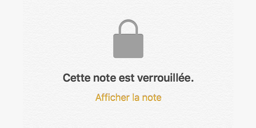 mot de passe application Notes