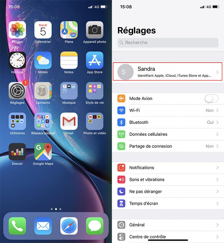 localiser iphone bluetooth