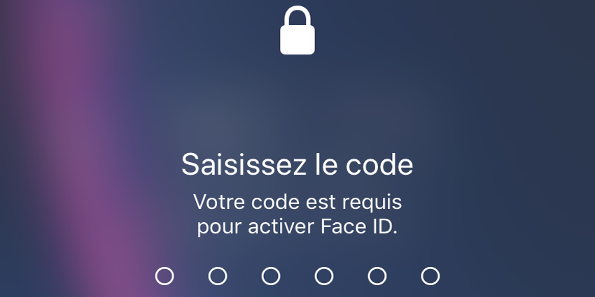 Face ID requis