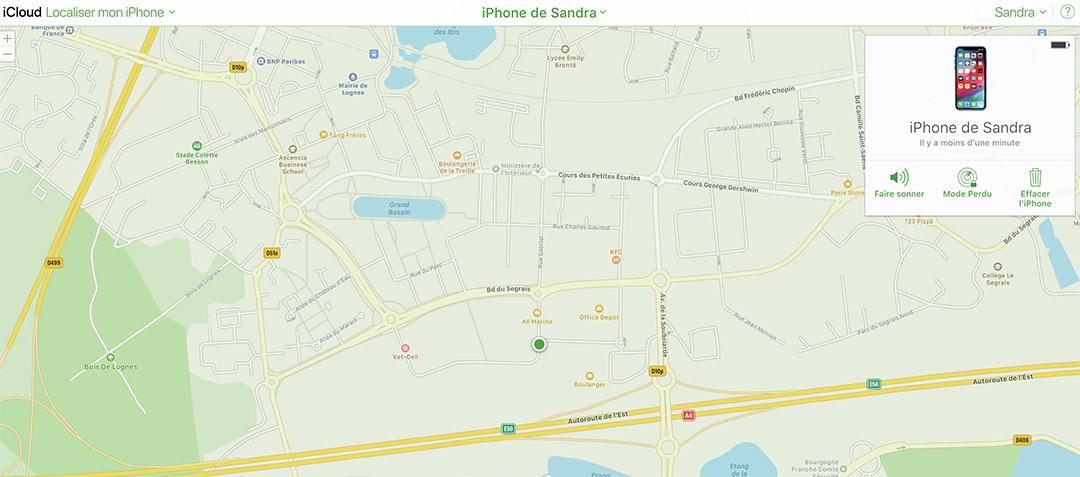 localiser iPhone SOSAV