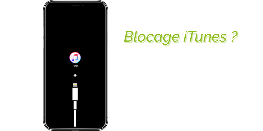 iPhone bloqué sur iTunes