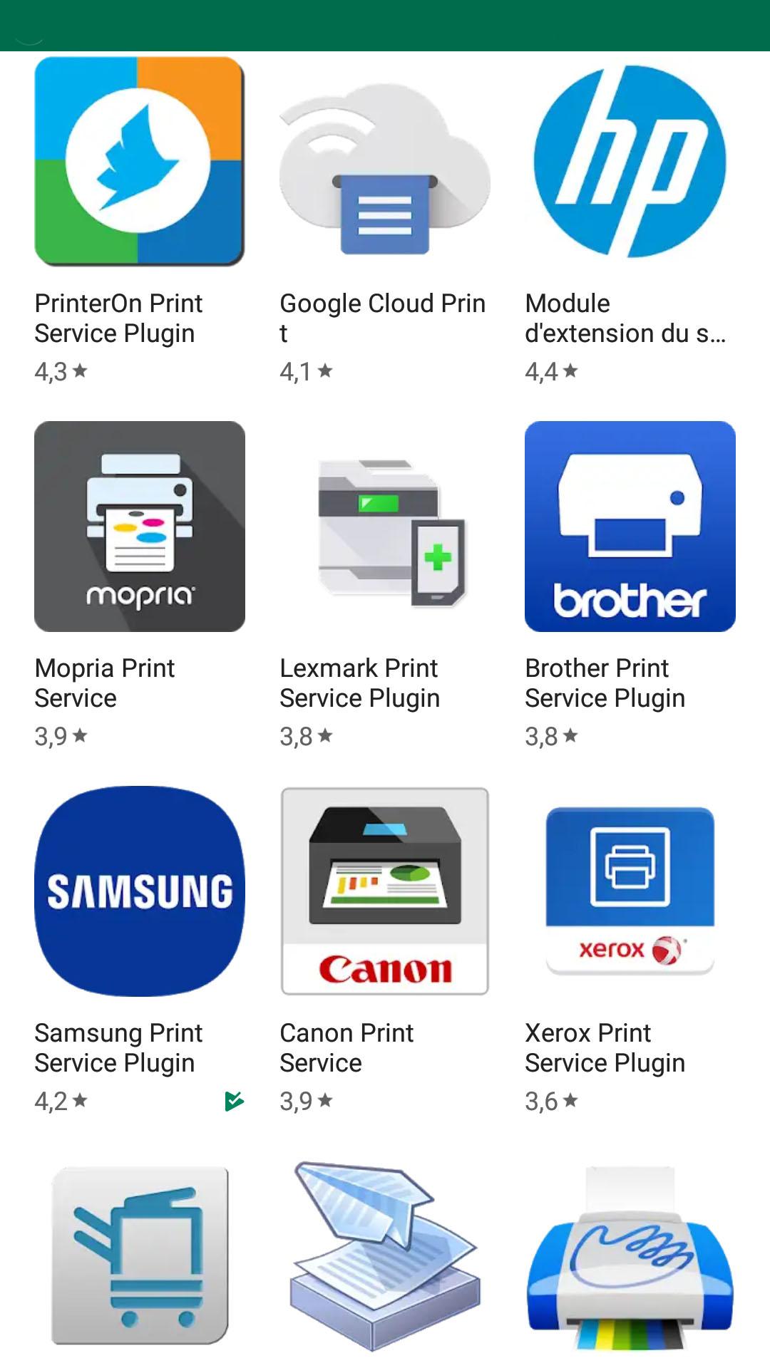 choisir son application imprimante