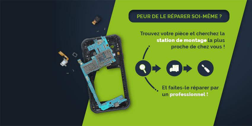 Réparation smartphone économique et facile : stations de montage by SOSav !