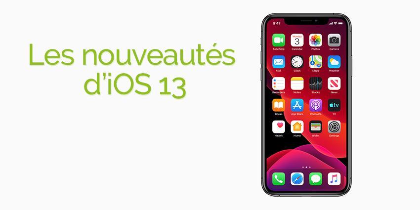 Nouveautés iOS 13