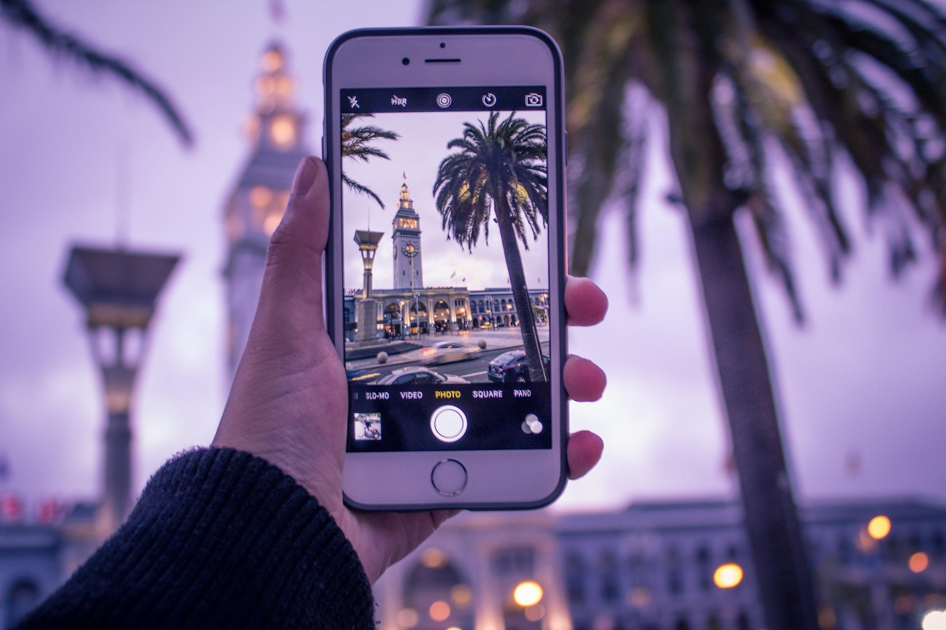 Faire des photos sur telephone.