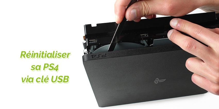 Restaurer une PS4 qui a planté via USB