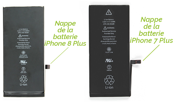 Batterie iPhone 7 Plus et iPhone 8 Plus