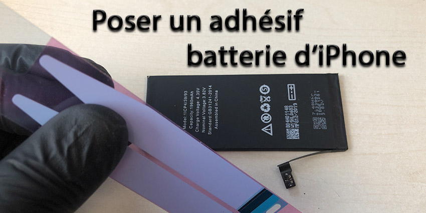 Coller un sticker batterie iPhone