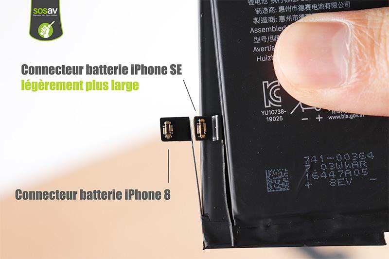 Connecteur batterie iPhone SE 2 et iPhone 8
