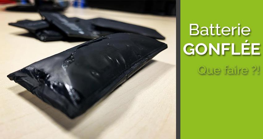 Batterie gonflée, comment l'enlever en toute sécurité ?