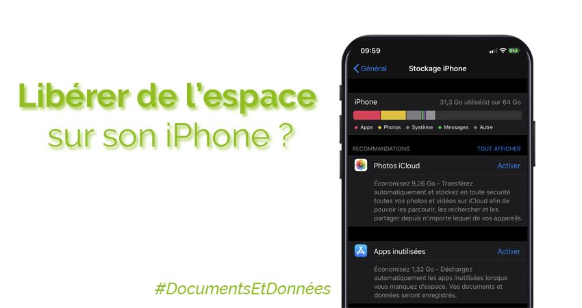 Supprimer «Documents et données» sur iPhone