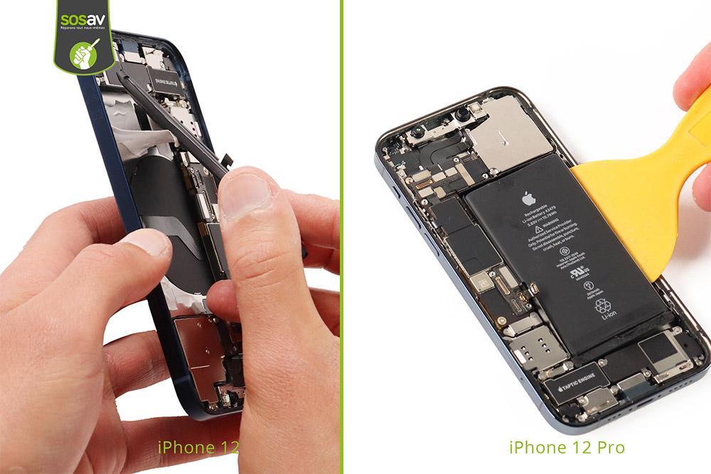 Batterie iPhone 2 et batterie iPhone 12 Pro