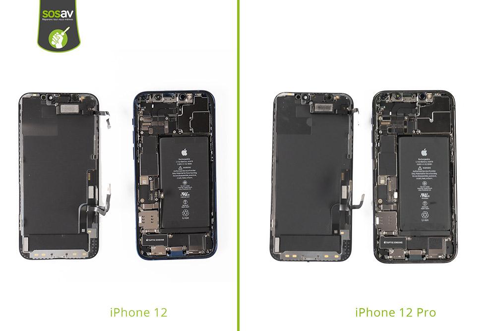 iPhone 12 et 12 Pro ouverts