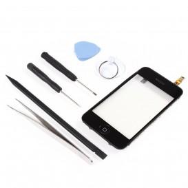 Kit Réparation Bloc Vitre Tactile Noir - iPhone 3G