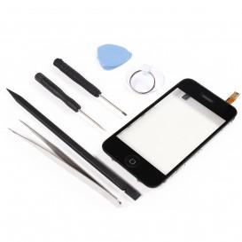 Kit Réparation Bloc Vitre Tactile Noir - iPhone 3GS