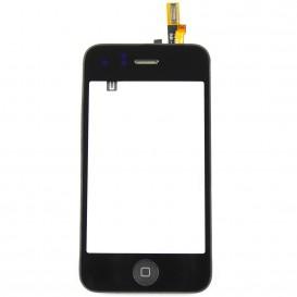 Bloc vitre tactile noir complet - iPhone 3G