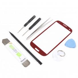 Kit réparation vitre tactile ROUGE - Galaxy S3