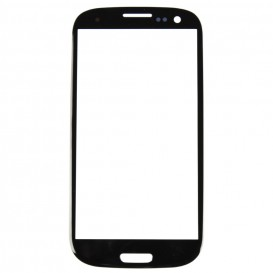 Vitre tactile Noire + Stickers - Samsung Galaxy S3
